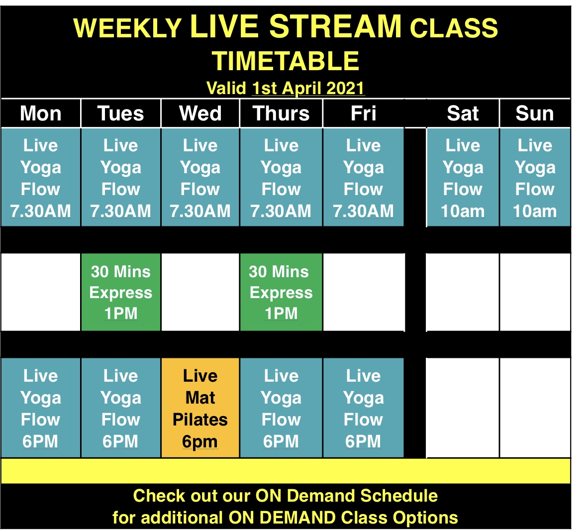 Mandala Live Stream Classes weekly