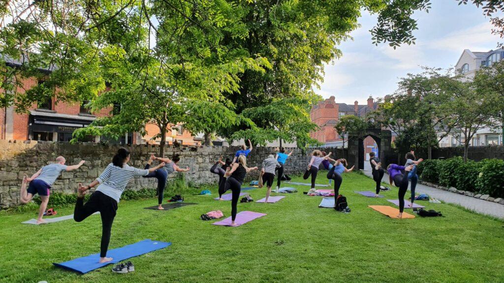 OUtdoor classes Mandala Yoga St. Mary's Church Haddington Road