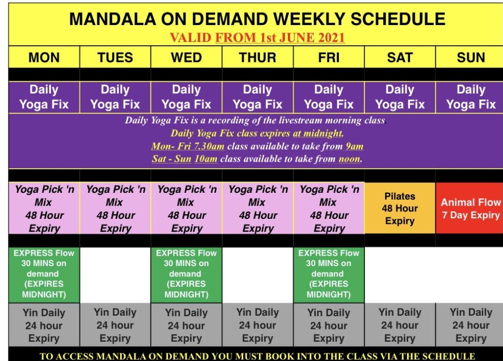 ON demand yoga class