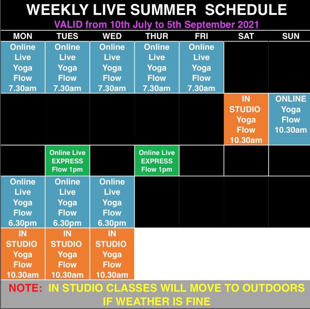mandala yoga summer schedule 2021E 2021